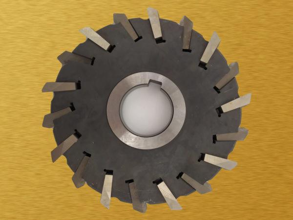 Фреза дисковая трехсторонняя со вставными тв.сплав. ножами